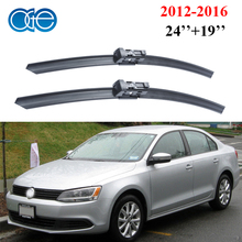 Oge Windshield Wiper Blades For VW Jetta 6, 2012 2013 2014 2015 2016 Pair 24''+19'' Windscreen Silicone Rubber Car Accessories