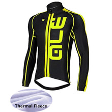 2017 Long Sleeve Winter Keep Warm ALE Cycling Jersey Thermal Fleece Bicycle Wear Ropa Ciclismo Invierno Bike Clothing -XX49D(China)