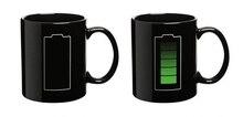 Battery Printed Black Ceramic Coffee Cup