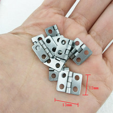 Bulk White/Silver Color Cabinet Door Luggage Hinge,4 Large Holes Decor,Furniture Decoration,Antique Vintage Old Style,12*13mm(China)