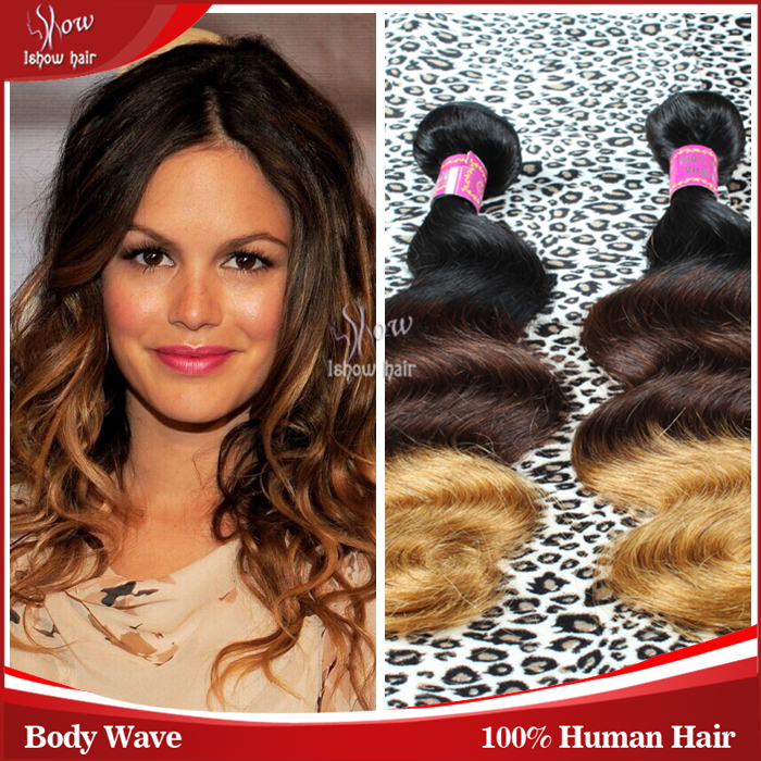 Aliexpress three tone ombre brazilian human hair body wave Grade 6A  cheap wavy brazillian weave soft remy human hair weave<br><br>Aliexpress