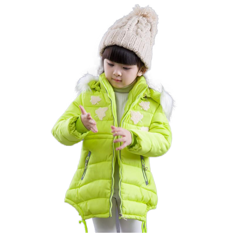 New Arrival 2017 Winter Girl Warm Cotton Coat Long Style Hooded Thicken Children Cotton-padded Clothes With Faux Fur Kid OutwearОдежда и ак�е��уары<br><br><br>Aliexpress
