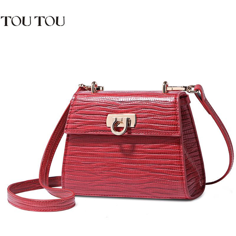 A1620 TOU TOU Brand Alligator Leather Crossbody Colorful Handbags for school Women Bags Chain Clutch Messenger bolsas<br>