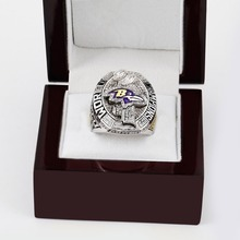 Free shipping 2012 SUPER BOWL XLVI Baltimore Ravens CHAMPIONSHIP RING for Men's Fashion Jewelry for birthday gifts(China)