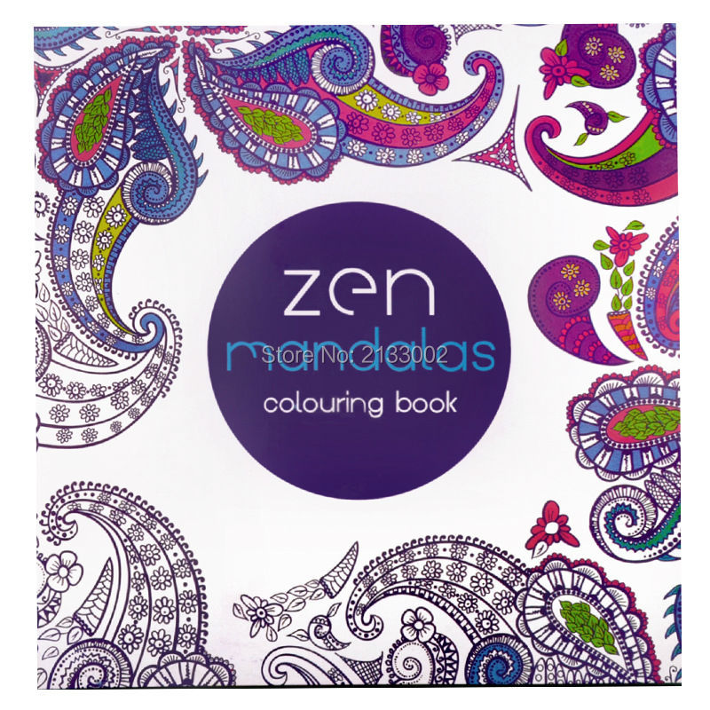 128 Pages Mandalas Coloring Books Relieve Stress Graffiti Painting Drawing Secret Garden Art Colouring For