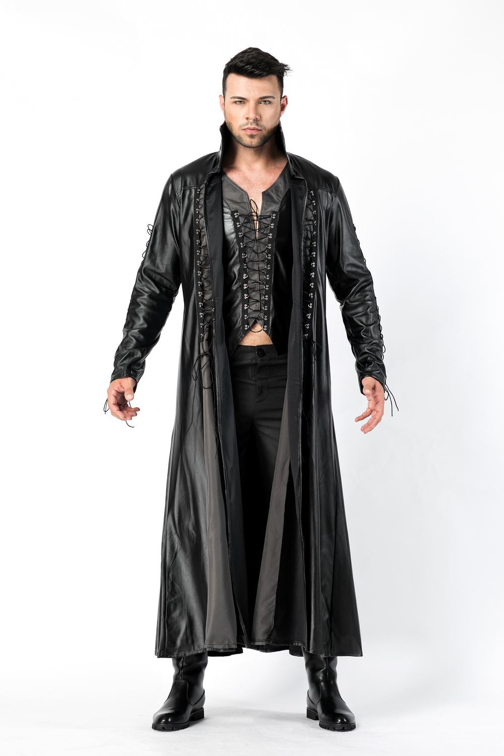 Mens Women Unisex Fancy Dress Halloween Stag Party Night Out Costume Hooded Cape