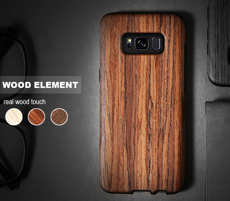 wood pattern soft tpu case for samsung s8 s8 plus (2)