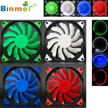 Levert Dropship Quiet 120mm DC 12V3+4pin LED effects Clear Computer Case Fan For Radiator Mod SZ0227