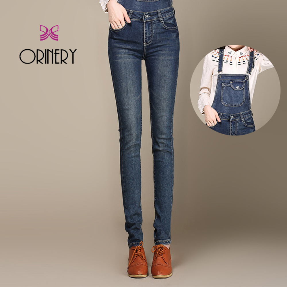 ORINERY New Arrival Spring Straps Wind Pants Womens Denim Pants College Plus Size Slimming Foot Elastic Strap Flashes JumpsuitОдежда и ак�е��уары<br><br><br>Aliexpress