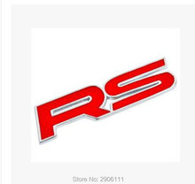 3D red metal RS alphabet car logo sticker for Dodge charger journey challenger caliber caravan ram 1500  accessories car-styling