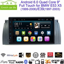 Android 6.0 Quad Core GPS Navi 9 Inch Full Touch Car DVD Multimedia for BMW E53 X5/E39 5/M5 97-06 with BT/RDS/Radio/Canbus/WIFI