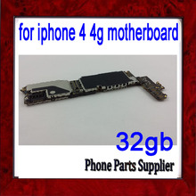 100% Test Well for iphone 4 Motherboard,32gb Original Unlocked for iphone 4 4g Motherboard with Chips,Free Shipping