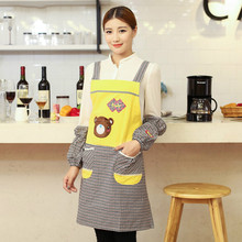 Fashion Kitchen Apron Home Furnishing Overclothes Adult Male Ladies Cute Aprons Customized Uniform Postage Tablier Cuisine