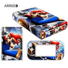 Super Mario Vinyl Cover Decal Skin Sticker for Nintendo Wii U Console & Controller Skins Sticker