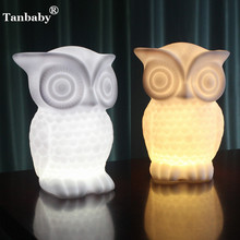 Tanbaby 1W DC5V Owl led night Creative light AAA battery operated Indoor decorative lamp White/Warm White for Kids,Bedroom,Party(China)