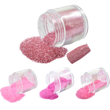 1 Bottle 10g New Nail Art Glitter Dust Pink Series Sequin Dust Gem Glitter Powder for 3d DIY Decor Tools #19,24,32,38(China)