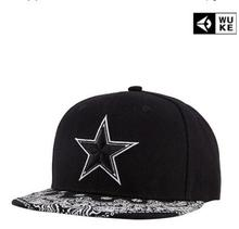 High Quality Gorras Planas Hip Hop Snapback Cap Canvas Embroidery Printing Five-Pointed Star Hip Hop Cap Baseball Cap Brand Wuke