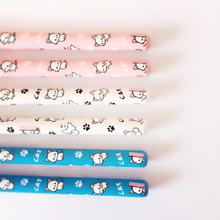 L01 3X Super Cute Kawaii Cat & Paw Gel Pen Writing Signing Pen Student Stationery School Office Supply Rewarding Kids Gift