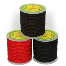 Terylene Cord Chinese Knot Black/Brown/Red Color String Cord 4mm Dia, 12 Yard/Roll For DIY Handicraft Tool Hand Stitching Thread
