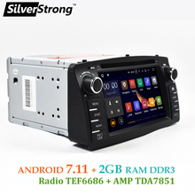 Free Shipping 2GB RAM Android7.11 Universal Car DVD COROLLA E120 GPS For TOYOTA corolla ex radio Navigation android TPMS