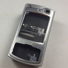 For Nokia N80 Rear Chassis Full Housing+Camera flash+Speaker+Power Button Keypad Repair Silver Color Parts Free Shippng