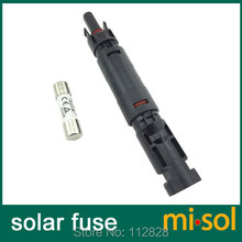 1 unit of PV solar fuse 10a 1000VDC fusible 10x38 gPV, with holder MC4 connector(China)