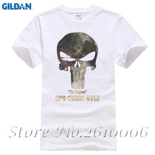 Latest Design punisher T Shirt Men Skull PP Mask Tee chris kyle T Shirt Family Short Sleeve Cotton 3XL Men's T-shirtsMens 100% C(China)