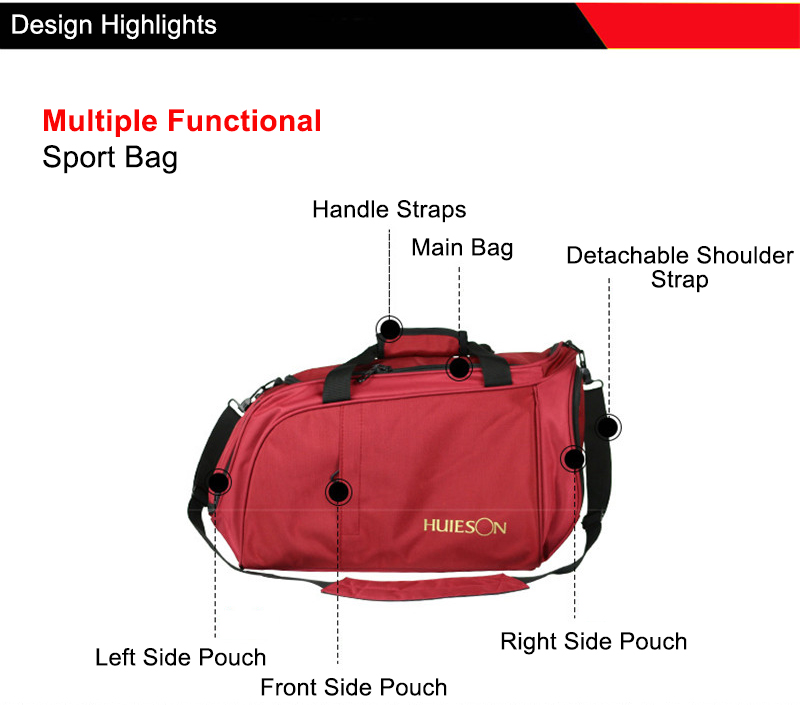 Huieson Professional Table Tennis Sport Bag Men Women Travel Bag for Table Tennis Match Training Black Red S M Hand Shoulder Bag (5)