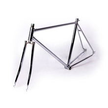 700C frame 52cmsliver fixed gear bike frame 2015 promotion road bicycle frame plated steel frame sliver plating fork
