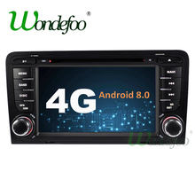 Android 8.0 4G / Android 7.1 2G 2 DIN CAR DVD player For Audi A3 S3 GPS stereo radio navigation multimedia Audio Touch SCREEN(China)