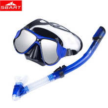 SBART Diving Mask Snorke All Dry Breathing Tubes Silicone Scuba Anti-Fog Glasses Snorkeling Diving Water Sport Equipment(China)