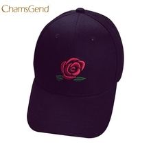 Chamsgend Baseball Cap Newly Design Embroidery Rose Flower Cotton Hot Summer Snapback Hip Hop Hat 160328 Drop Shipping(China)
