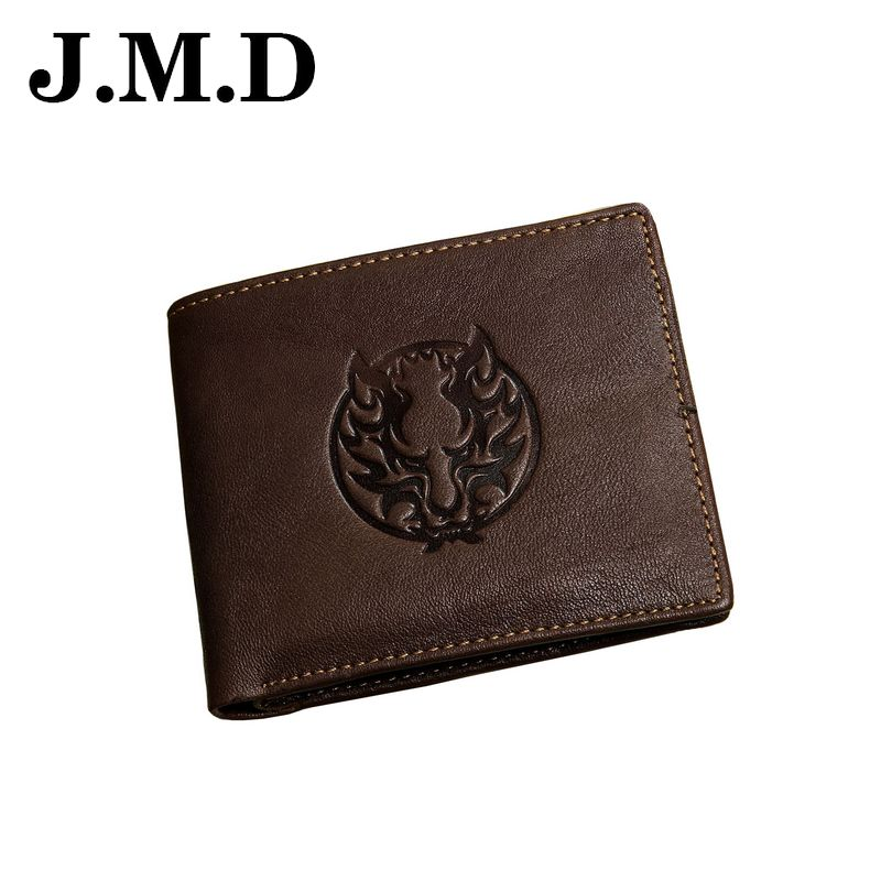 JMD 2017 Hot Genuine Leather Men Short Wallets Vintage Print Card Holder Photo Cion Purse High Quality Male Clutch Bags JD077<br><br>Aliexpress