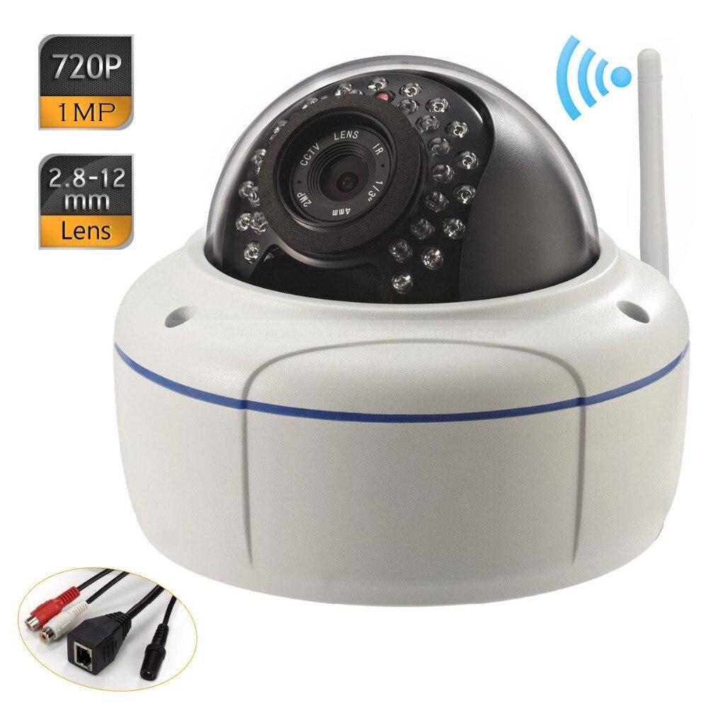 Wifi ONVIF P2P 2.8-12mm Waterproof Dome Network IP Vandal-proof Camera 720P<br><br>Aliexpress