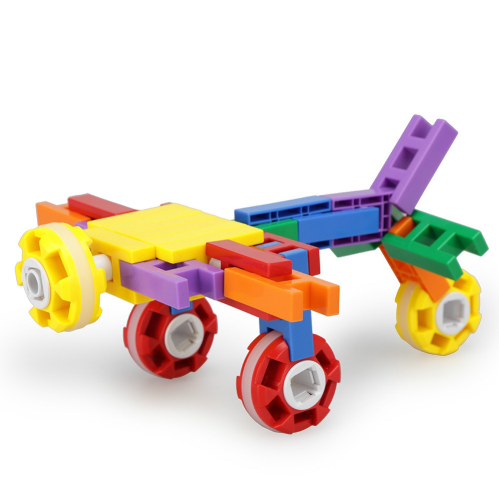 Y14264 Multi-function Barreled Red Wheels Plastic Fight Inserted Building Blocks 200Pcs DIY Assembling Educational Toy For Child<br><br>Aliexpress