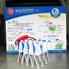 10ft straight trade show display pop up banner stand booth exhibition stand advertising equipment(China)