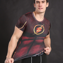 the flash cosplay costume marvel t shirt(China)