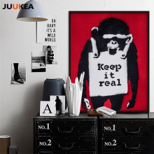 Gordon Banksy POP Individuality Orangutan KEEP IT REAL Graffiti Doodle, Canvas Art Print Painting Poster Wall Decor Home Decor