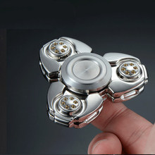 Buy KAWO Metal Tri-Spinner Fidget Spinner Stainless Steel EDC Hand Spinner Rotation Time Long Anti Stress Toys for $22.22 in AliExpress store
