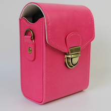 Pink Universal Camera Lock Case Bag Leather Case Cover for Digital Camera Canon Nikon Olympus Samsung Free Shipping