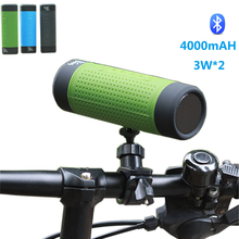 New Outdoor Cycling Wireless Bluetooth Speaker For Mountain Bike 4000mAH 3W*2 Waterproof Speaker Subwoofer For Android  Iphone