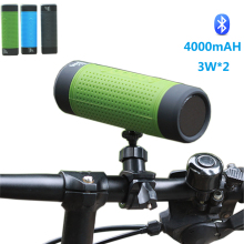 New Outdoor Cycling Wireless Bluetooth Speaker For Mountain Bike 4000mAH 3W*2 Waterproof Speaker Subwoofer For Android Iphone(China)