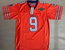 The Waterboy Football Jersey Stitched #9 Bobby Boucher 50th Anniversary Movie Jerseys Orange S-3XL Free Shipping Viva Villa