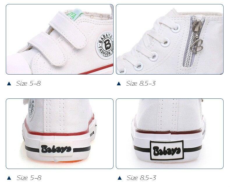 Enfants chaussures pour fille enfants toile chaussures garçons 13