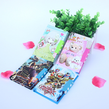 New Hard surface Password mini notebook,cute cartoon diary Students and children gifts more styles office school supplier retail(China)