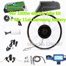 "The 50kph speed 20""-28"" Ebike kit 48v 1000w electric bike kit with 48v 12ah dolphin lithium battery pack(China)"
