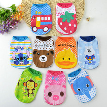 Cute Cartoon Pet Dog Clothes For Small Dogs Soft Cotton Pet T shirt Vest Summer Puppy Cat Clothing Chihuahua Yorkie Clothes(China)