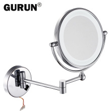 GURUN led makeup mirror with led light vanity cosmetic magnifying wall mirror bathroom magnification shaving make up mirrors(China)