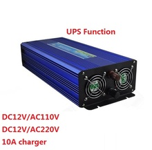 1500W/1.5kw / 3000W/3kw DC input 12V to AC output 220V 50HZ Off Grid Pure Sine Wave Inverter with UPS charger function