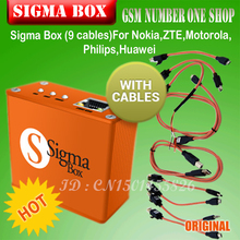 gsmjustoncct Sigma Box unlock Box and repair tool +9 cables china mobile software box for Motorola and other phone P15(China)